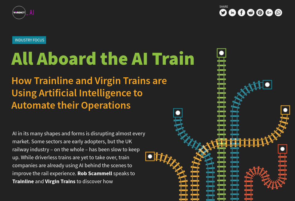 All Aboard the AI Train: How Trainline and Virgin Trains are